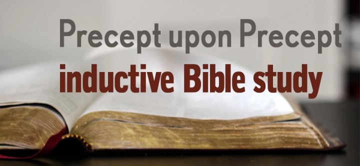 Percept upon Precept inductive Bible study